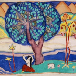 """""""Landscape with Figures,"""" 1913, by Marguerite Thompson Zorach"""
