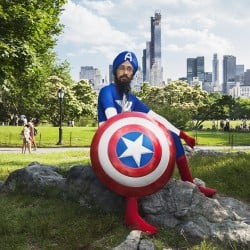 """Vishavjit Singh describes himself as """"the nation's only turbaned and bearded cartoonist."""""""