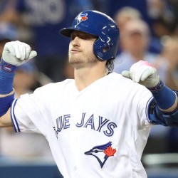 Josh Donaldson crosses home after hitting a two-run home run in the eighth inning Friday night at Toronto. Donaldson had two homers and five RBI in the Blue Jays' 7-5 win.