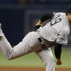 New York's Masahiro Tanaka pitched seven scoreless innings and the Yankees beat the Rays 4-1 Friday night in St. Petersburg, Florida. Tanaka allowed two hits and struck out four.