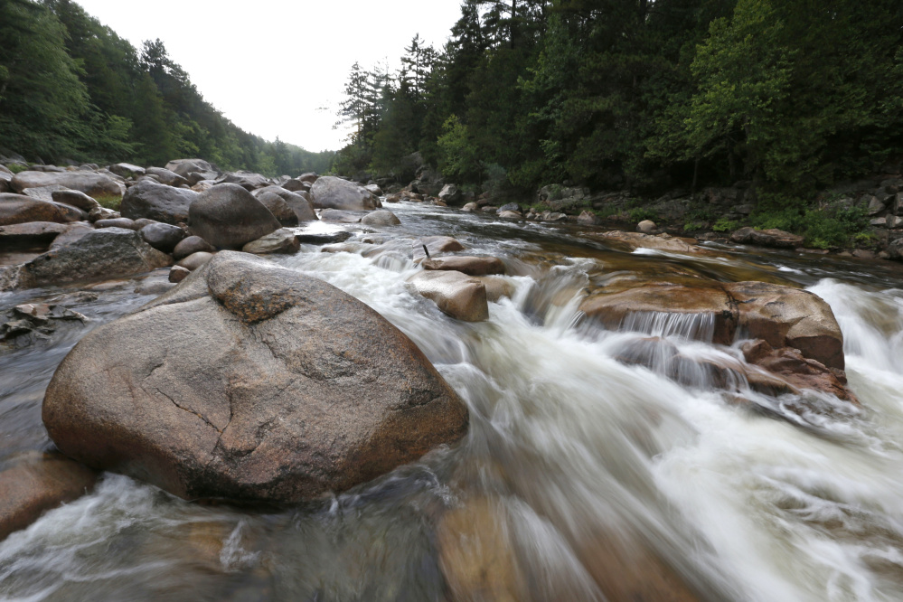 The Wassataquoik Stream flows through land proposed for a national park in Township 3, Range 8, Maine.