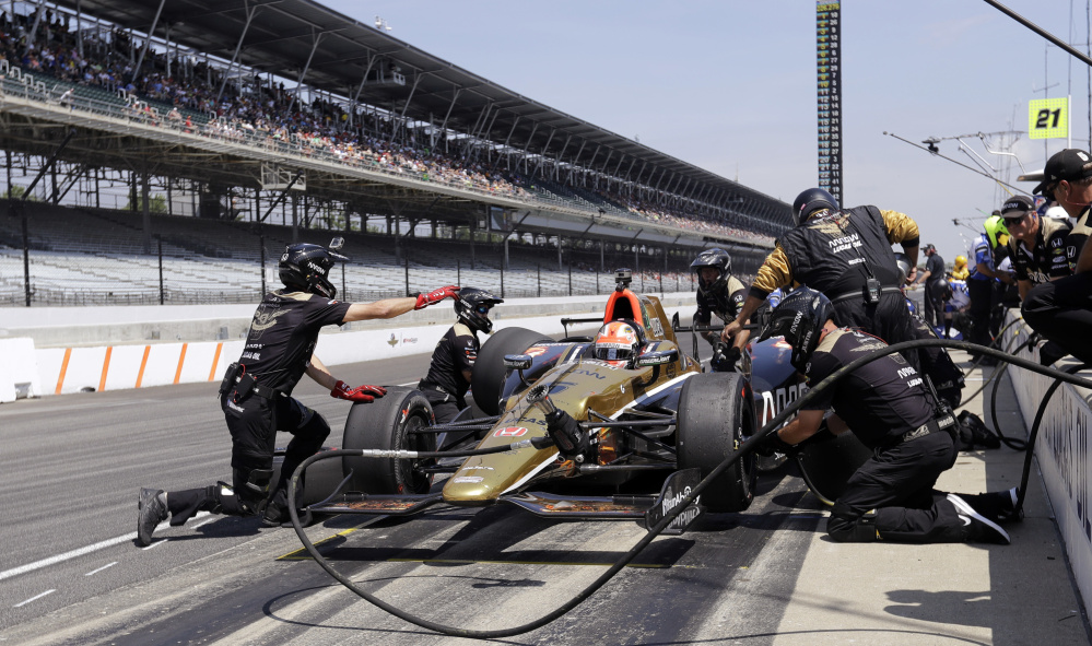 James Hinchcliffe nearly died from injuries in a practice crash before last year's Indianapolis 500. This year, he'll start the 100th running of the race from the pole position.