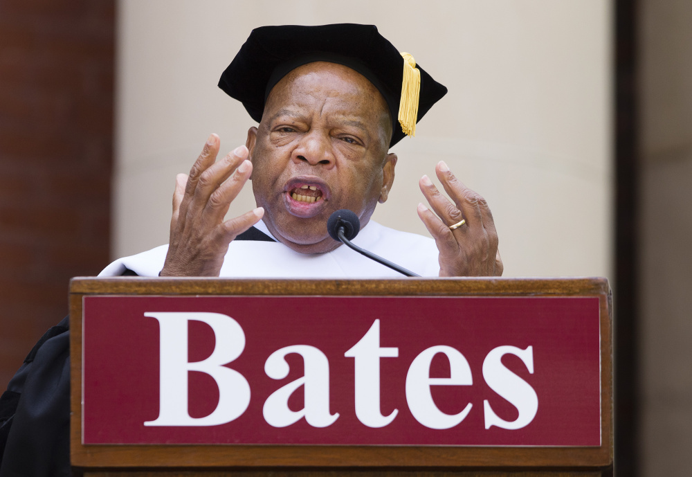 U.S. Rep. John R. Lewis, D-Ga., urges graduates to use their education as a tool to set