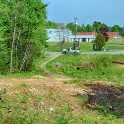 Work has begun at the site of the proposed new Augusta Fire Department station near the intersection of Anthony Avenue and Leighton Road.