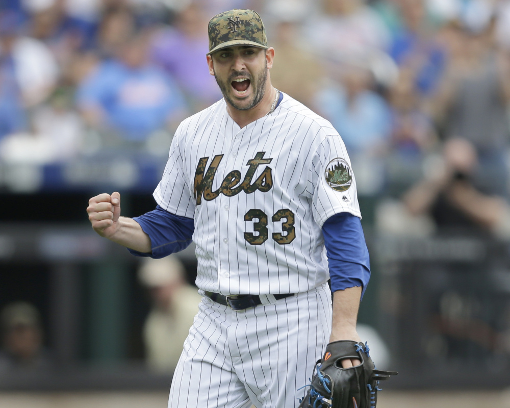 New York's Matt Harvey is pumped after escaping a jam in the seventh inning of a win Monday over the White Sox. It was Harvey's first victory since May 8.