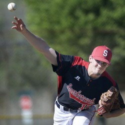 Scarborough's Mitchell Wedge settled down after the first inning and pitched a complete game in beating Portland.