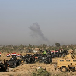Iraqi military forces prepare for an offensive into Fallujah to retake the city from Islamic State militants.
