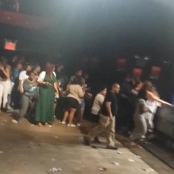 This image made from a video shows people inside Irving Plaza, near Manhattan's Union Square in New York after a shooting Wednesday, May 25, 2016. Police say several were injured in a deadly shooting inside the concert venue, where hip-hop artist T.I. was scheduled to perform. (Elijah Rodriguez via AP) MANDATORY CREDIT