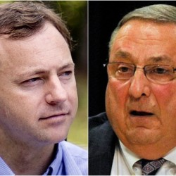 House Speaker Mark Eves and Gov. Paul LePage