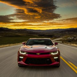 The 2016 Chevrolet Camaro's optimized ergonomics include new seats, a new, flat-bottom steering wheel and a new center console designed for easier manual-transmission shifting.