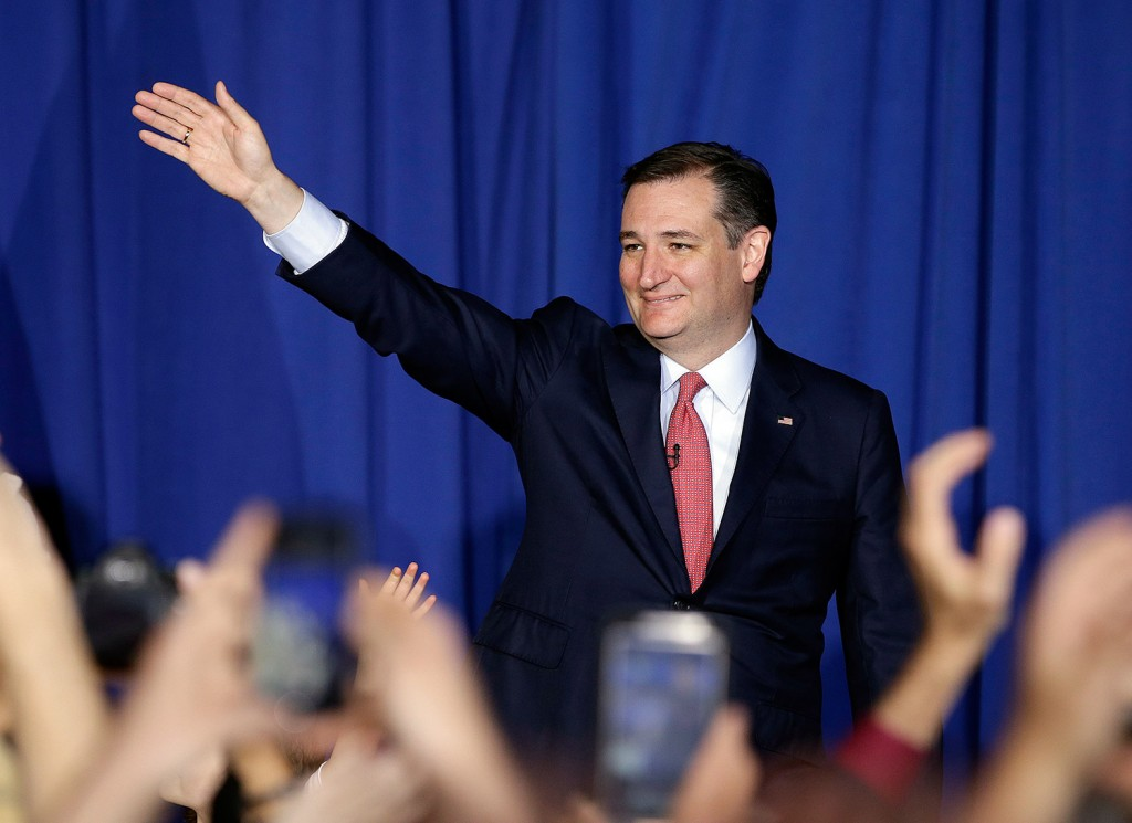Ted Cruz waves to supporters during a primary night event at which he announced the end of his presidential campaign. The Associated Press