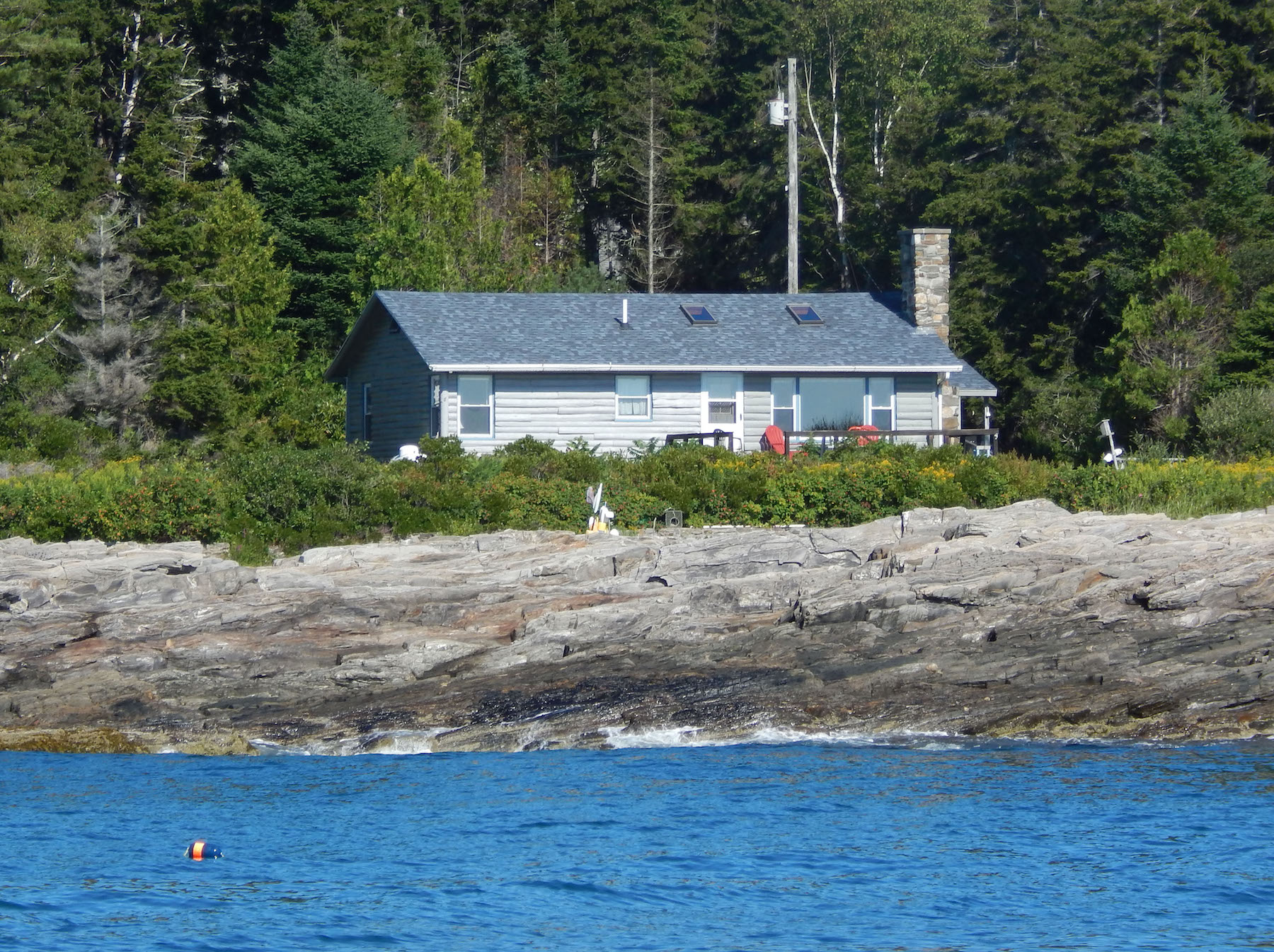 The cottage as seen from the water. Built in 1960, it has belonged to only one family since.