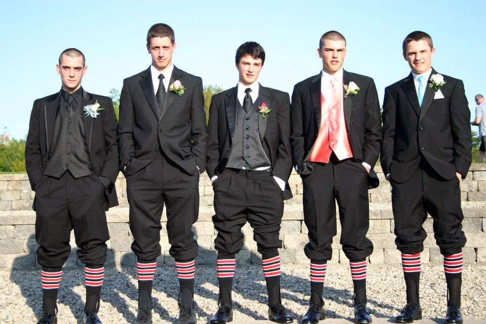 Conor McCann, Peter Krahe, Joe Cronin, Brendan Hall, & Nick Bagley showing some Scarborough pride.