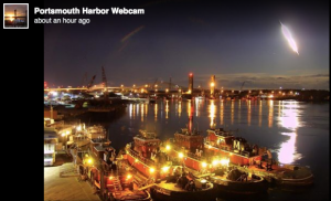This image of a meteor was posted to the Portsmouth Harbor Webcam Facebook page.
