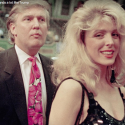 Donald Trump with his second wife, Marla Maples.