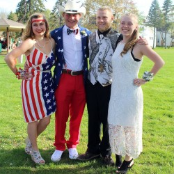 Lizzie Stalling, Corey Walker, Jonathan Jaques and Marissaa Ramsey: Westbrook High prom, May 14