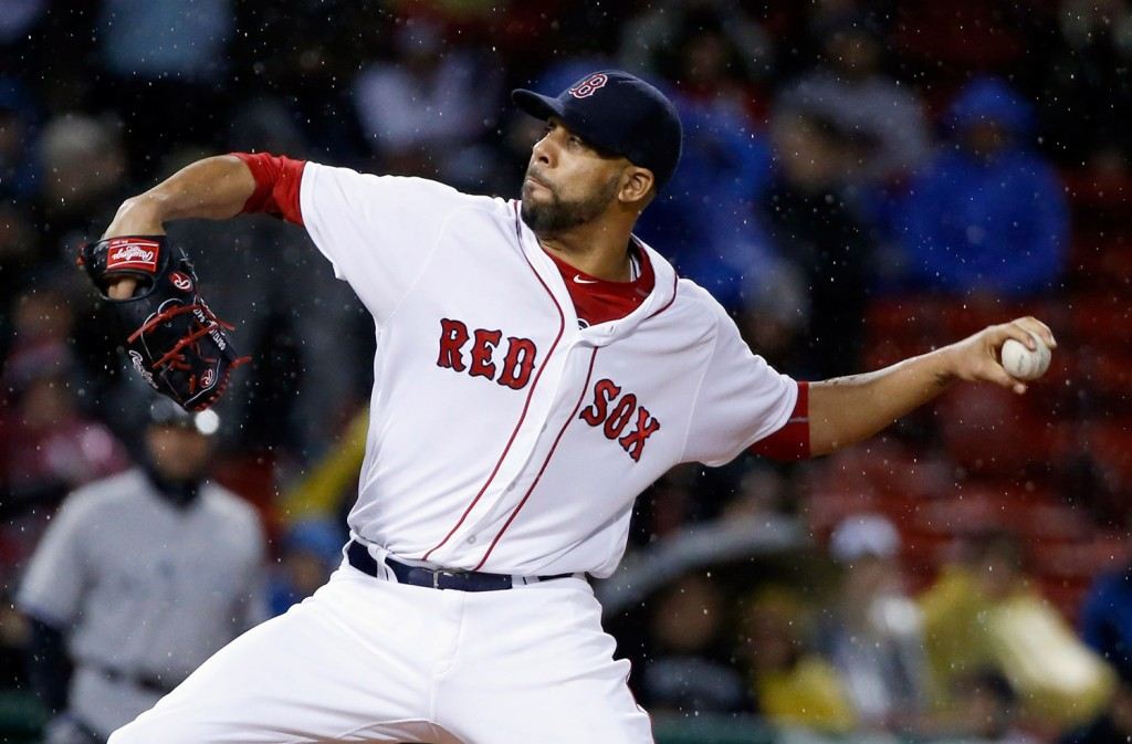 David Price pitches during the first inning in Boston.