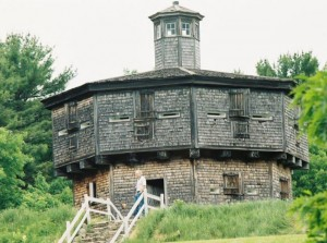 The blockhouse at Fort Edgecomb State Historic Site across from Wiscasset. Photo courtesy of Maine Office of Tourism