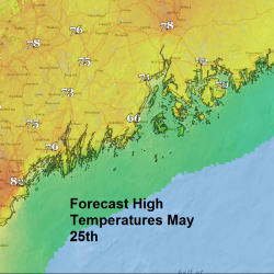 Forecast highs Wednesday May 25th