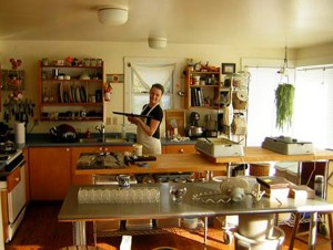 Kate Shaffer, in Black Dinah Chocolatiers's homier space on tiny, remote Isle au Haut. Courtesy photo