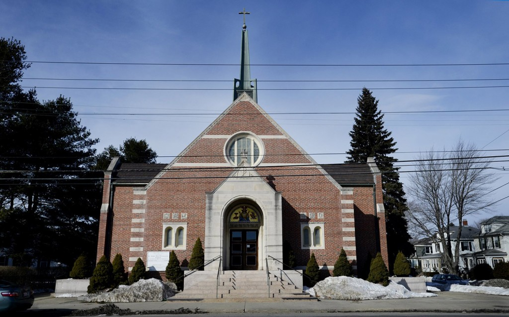 The site of St. John the Evangelist Church in South Portland could be redeveloped for a combination of housing and retail space.