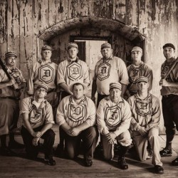 The Dirigo Vintage Base Ball Club will be showing people how baseball used to be played, along with other teams from around the Northeast, at the New England Vintage Base Ball Festival Saturday and Sunday in Cornish. Photo by Matthew Muise