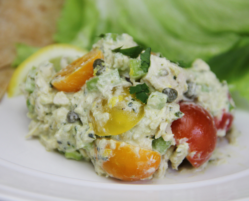 This lemon, pesto chicken salad is a deceptively simple, yet unbelievably complex-tasting salad.
