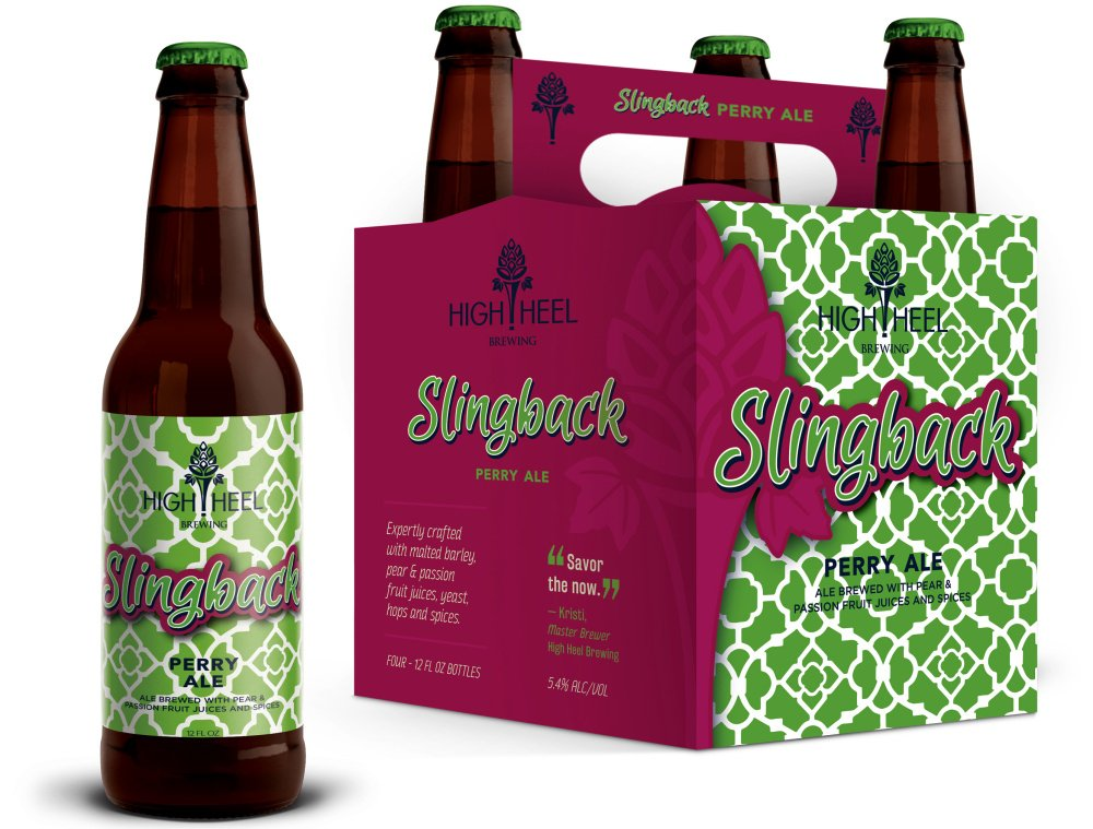 High Heel Brewing's Slingback ale is infused with chamomile, elderflower and passion fruit.