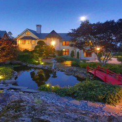 """The Froggery"" estate in Islesboro includes an authentic Japanese stroll garden, above, with koi ponds, reflection pools and Zen gardens. It is owned by John Blin, a Wall Street executive who had world-class architects and landscape artists build his Asian-themed getaway, left."
