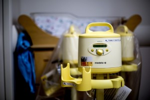 A breast pump at Maine Medical Center.