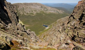 It's a long way down from the top of 5,167-foot Mt. Katahdin.