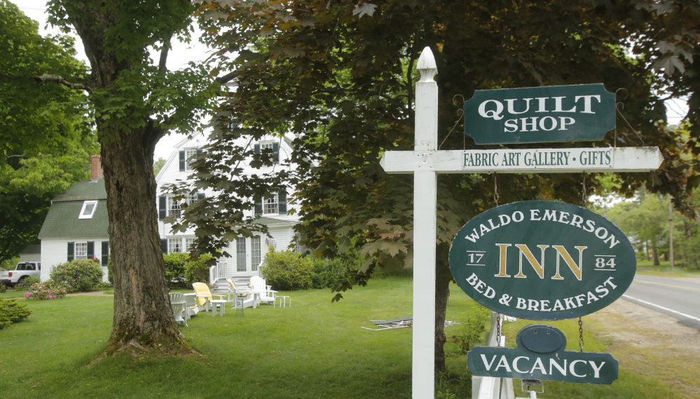 Kennebunk residents will vote next week on a zoning change to allow bed-and-breakfast businesses in certain parts of town to rent out six rooms instead of four. Kathy and John Daamen, innkeepers of the Waldo Emerson Inn in Kennebunk, say the change is the only way they'll be able to stay in business.