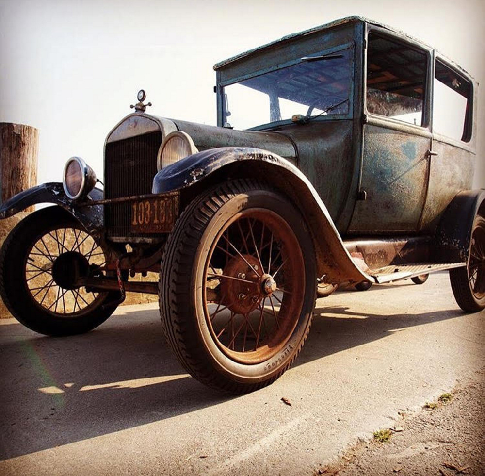 The humble Farmer owned this 1926 Model T in high school and recently drove it to his 63rd reunion. Philip Reinhardt, who now owns the sedan and loaned it out for the occasion, is studying automotive restoration at a college in Kansas.