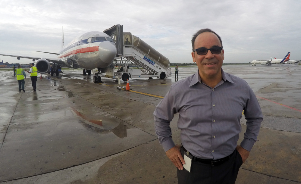 At Jose Marti International Airport in Havana, Galo Beltran, the Cuba country manager for American Airlines, says his employer is well-poised for resuming commericial flights. The Texas-based airline has been flying on behalf of charter companies since 1991.