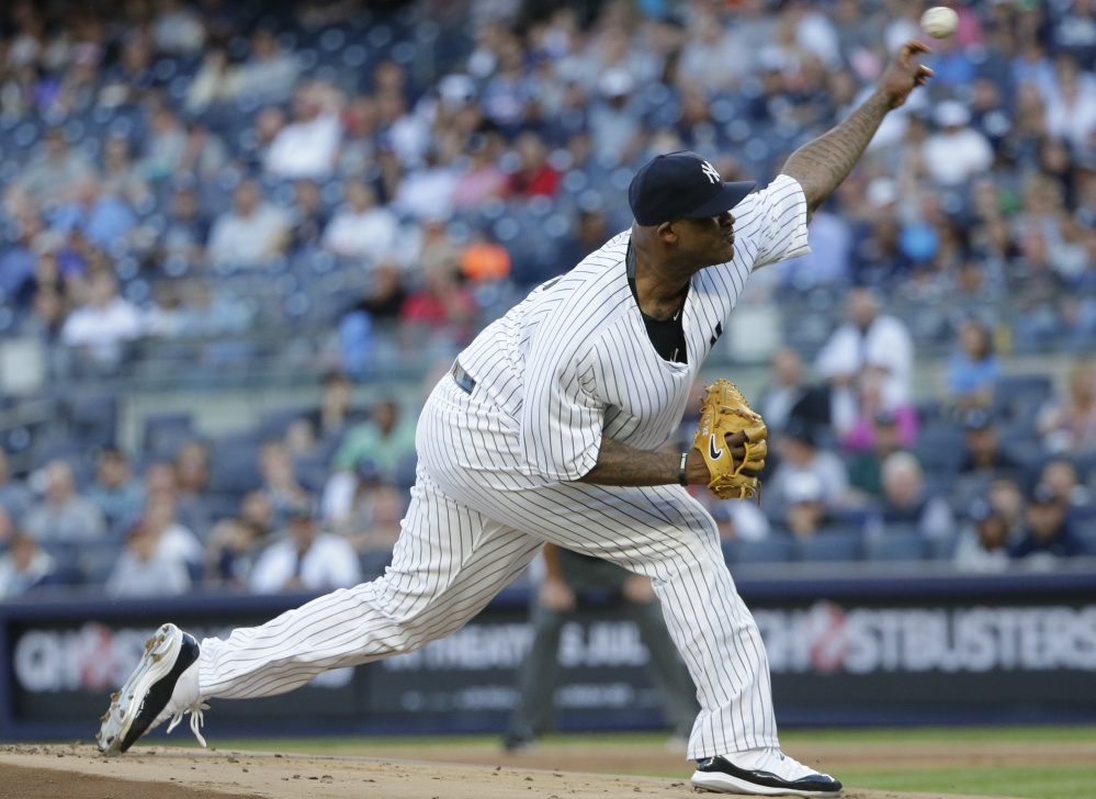 CC Sabathia had a strong game for the Yankees, with seven shutout innings in a 4-0 win over the Tigers at New York on Friday. The Yankees moved a game over .500 with the win.