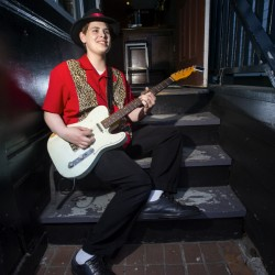 Darren Thiboutot, a graduate of Cheverus High School in Portland, has already seen some success performing in a blues band. He plans to study music education at the University of Maine at Augusta, where he received a scholarship. Derek Davis/Staff Photographer