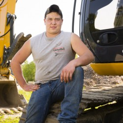 """Greely High's Fred Pierce, a heavy equipment enthusiast, says he turned his academic life around after connecting with a regional vocational center, where """"I was happy to be doing ... what I want to do in the future."""" He plans to work at his father's North Yarmouth excavation company. Carl D. Walsh/Staff Photographer"""