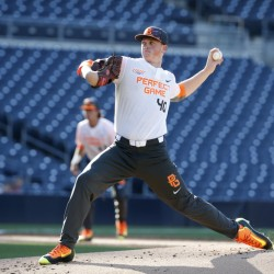 Jason Groome, shown pitching in the Perfect Game All-American Classic on Aug. 16, 2015, will be among Boston's top pitching prospects. Associated Press/Lenny Ignelzi