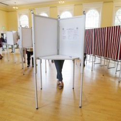 KENNEBUNK, ME – JUNE 14: Kennbunk residents vote Tuesday, June 14, 2016 at the Town Hall Auditorium in Kennebunk, Maine. (Photo by Joel Page/Staff Photographer)