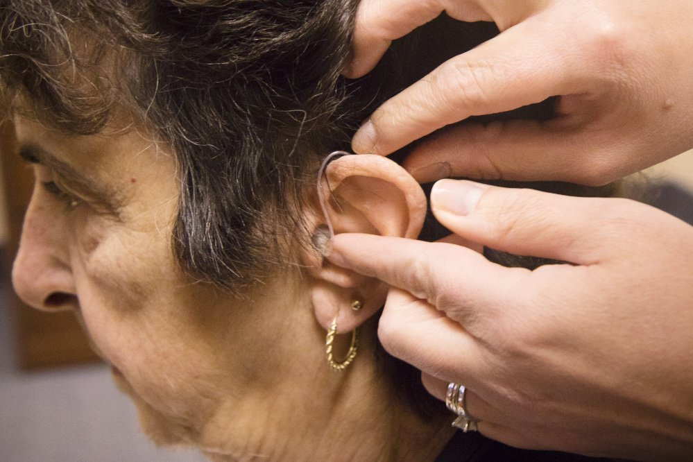 Even after she was told she needed two hearing aids 20 years ago, Pat Linhares could only afford one, and she wore it until it stopped working last year. The 75-year-old Old Orchard Beach woman had been going without until Beltone Hearing Care Foundation selected her recently as a recipient of two new hearing aids for free. She was fitted for the pair last week.