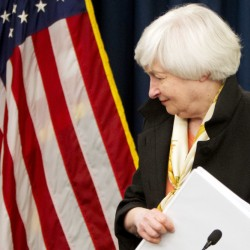 Federal Reserve Chair Janet Yellen leaves a news conference after the 2016 Federal Open Market Committee meeting in Washington. She addressed the Senate Banking Committee on Tuesday.