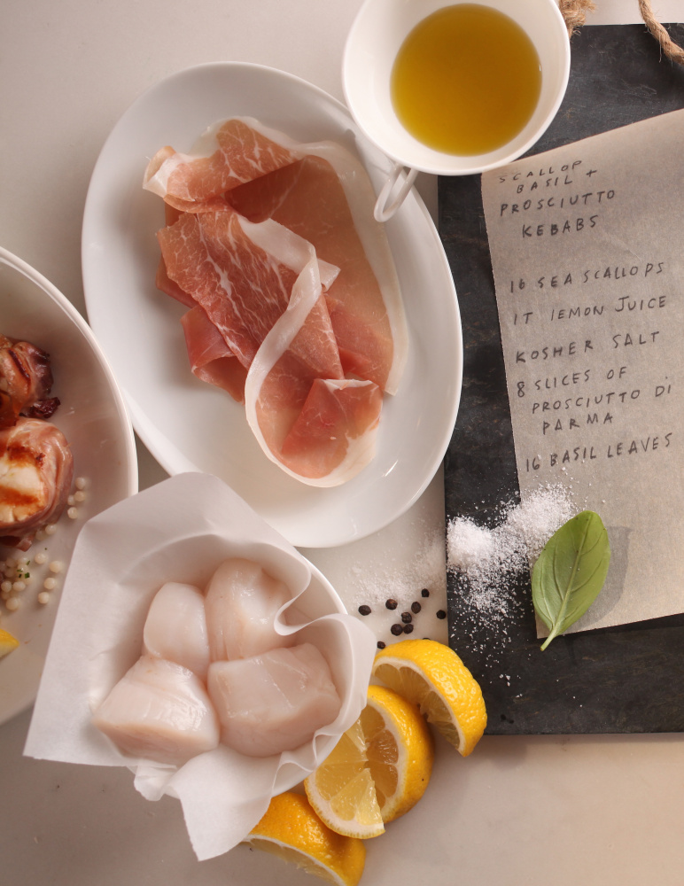 Marinated scallops wrapped in prosciutto great for grilled kebabs ...