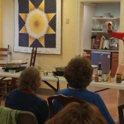 Kirsten Scarcelli, a founder of Plant IQ, conducts an Introduction to Plant-Based Eating presentation and cooking demonstration at the Cancer Community Center in South Portland.