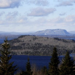 Moosehead Lake's iconic Mt. Kineo rises in the Moosehead Lake area. A 26-turbine wind farm has been planned by SunEdison in the Misery Ridge area of Somerset County, near Moosehead Lake.