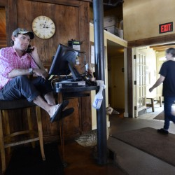 Fore Street's Joshua Dore, one of the few full-time reservationists in Maine, fields hundreds of phone calls a day at the Portland restaurant, which accepts reservations no more than two months in advance.