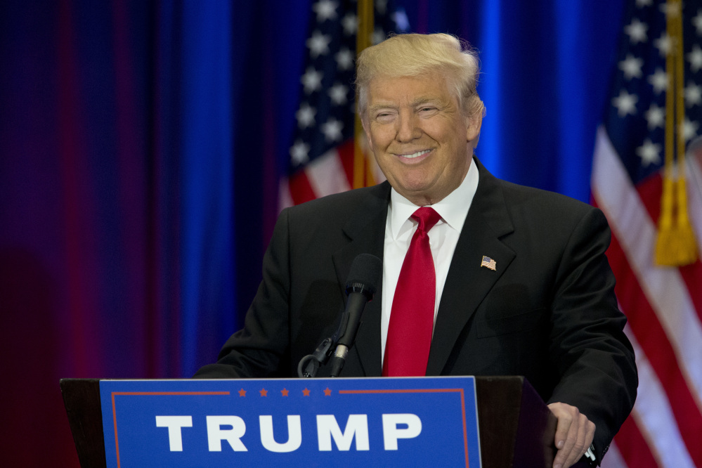 Associated Press/Mary Altaffer A somewhat restrained Donald Trump shifts his rhetorical fire on Hillary Clinton Wednesday, hoping to unite a Republican Party that remains divided over his candidacy.