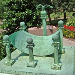 A rare sundial like this one on the grounds of Johns Hopkins Hospital in Baltimore, with a design patented by scientist Albert Cushing Crehore in 1905, is believed to be somewhere in the Portland area. It could be hidden by a fence or bushes. Have you seen it?