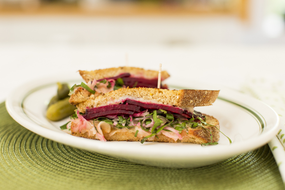 Salt-roasted beet reuben. Ben McCanna/Staff Photographer