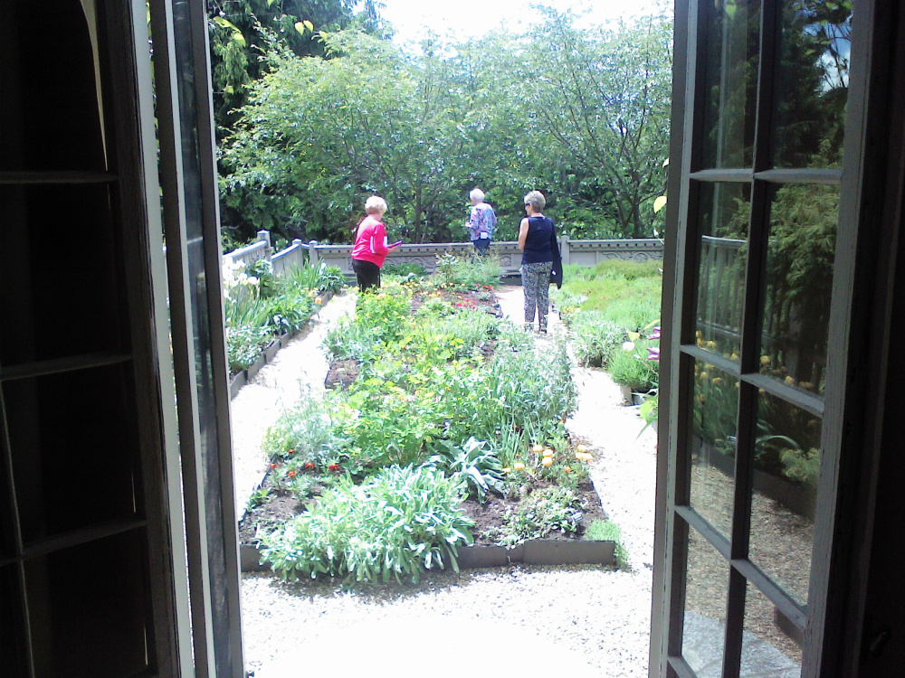 The newly restored terrace garden at Garland Farm in Bar Harbor reflects designer Beatrix Farrand's design principles.