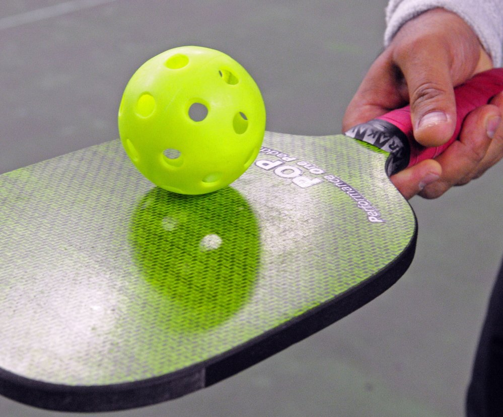 Pickle ball is played with a perforated, plastic ball and a solid paddle. Some of the best players from the Northeast and several other states are visiting Portland for a regional event.